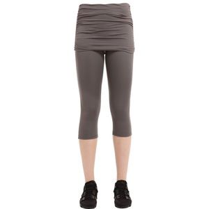 Prana Cassidy Skirted Yoga Brown Capri Leggings